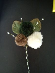 pom pom button hole