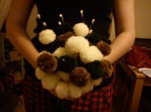 Bridal bouquet pom pom
