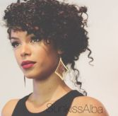 dark curly hair