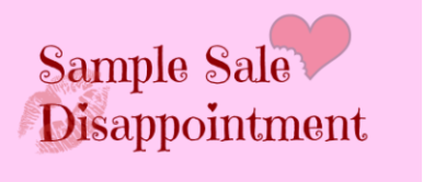 samplesaledisappintment