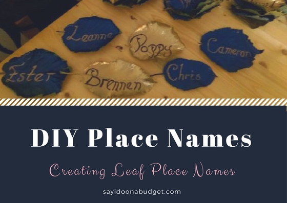 DIY LEAF PLACE NAMES