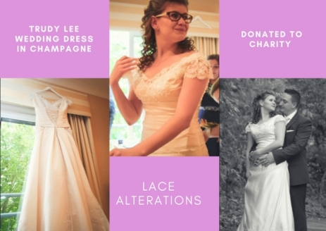 Trudy Lee Wedding Dress in Champagne