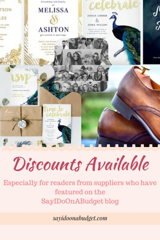 Discounts Available for SayIDoOnABudget Readers