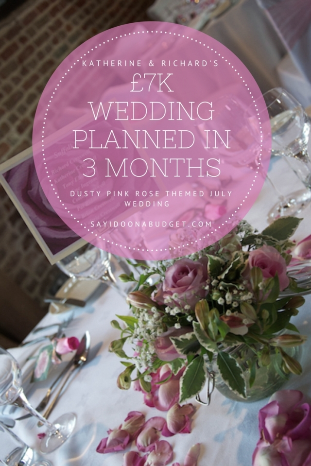 A real 7k wedding planned in 3 months. How to plan your wedding in a few months. Dusty pink wedding theme. sayidoonabudget.com