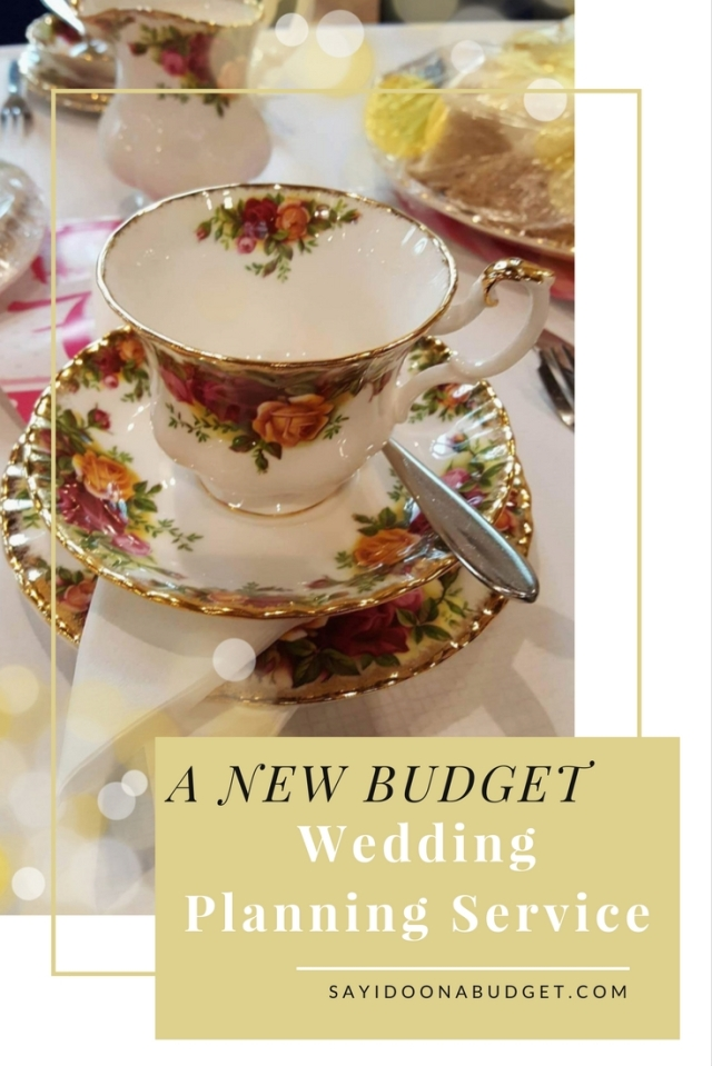 Budget Wedding Planning Service Idea to help couples stick to their wedding budget from sayidoonabudget.com