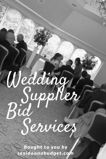 Wedding Supplier Bid Services