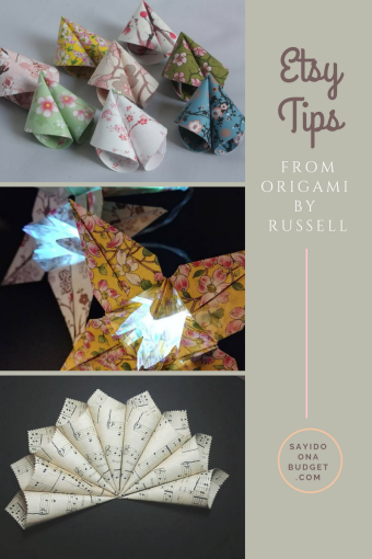 Etsy Tips from Origami by Russell