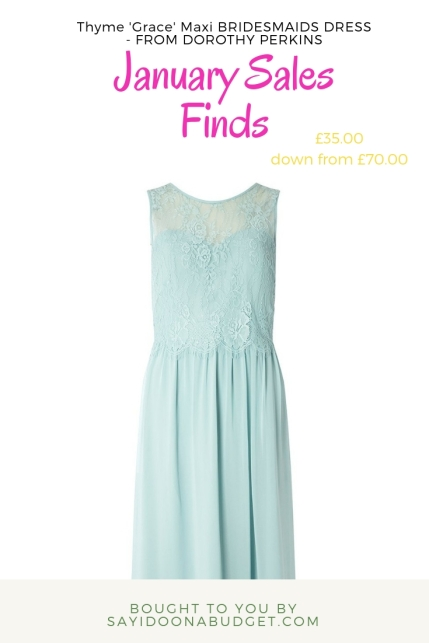 dorothy perkins thyme 'grace' maxi bridesmaid dress
