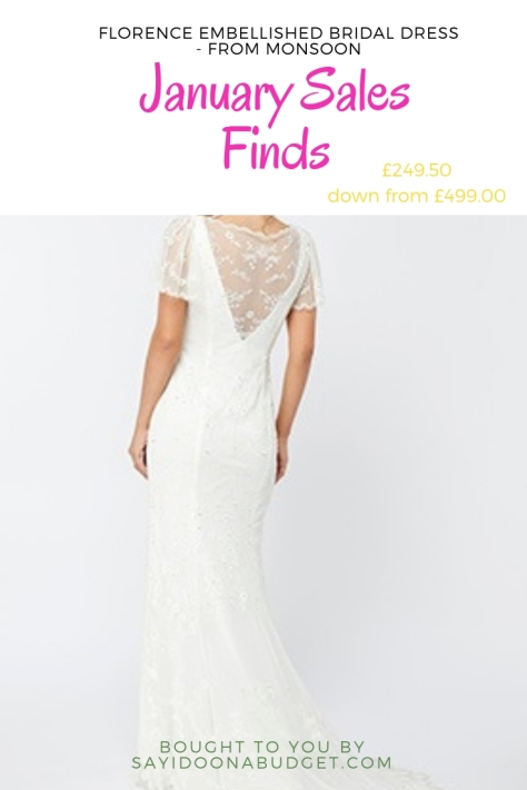 florence embellished bridal maxi dress from monsoon