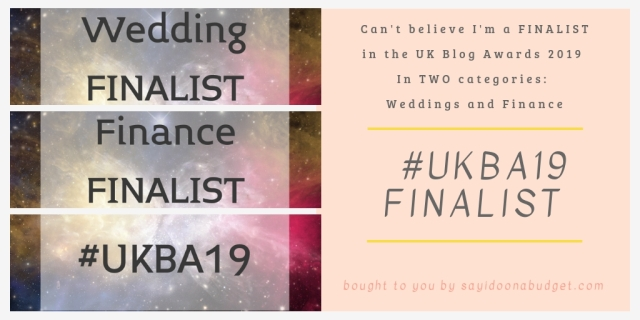 #ukba19 finalist for two categories_ wedding and finance!