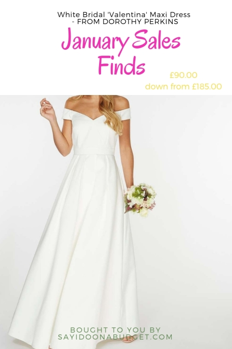 white bridal valentina maxi dress dorothy perkins