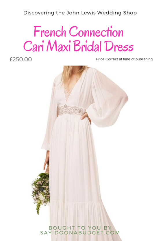 Discovering the John Lewis Wedding Shop French Connection Cari Maxi Bridal Dress