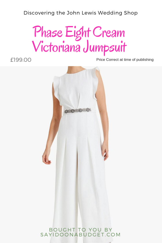 Discovering the John Lewis Wedding Shop Victoriana Bridal Jumpsuit