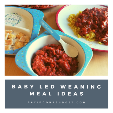 baby led weaning meal ideas chilli con carne from sayidoonabudget.com