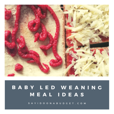 baby led weaning meal ideas pizza toast from sayidoonabudget.com