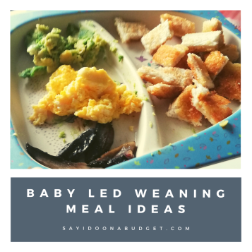 baby led weaning meal ideas scrambled egg and toast from sayidoonabudget.com