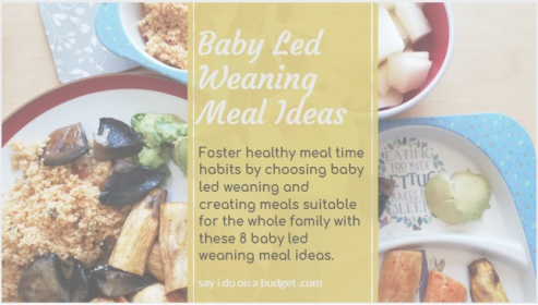 baby led weaning meal ideas. 8 meal ideas from sayidoonabudget